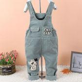 寶寶背帶褲女春秋新款男童裝純棉單褲子0-1-2-3歲嬰兒寬鬆可開檔 森活雜貨