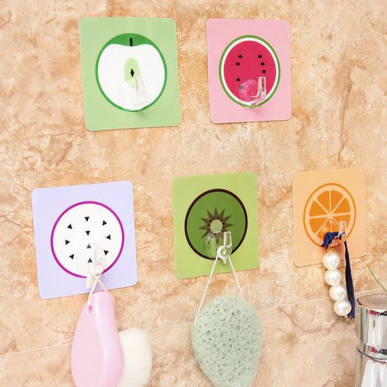 ✭米菈生活館✭【Z10-1】卡通水果無痕掛勾 廚房 浴室 防水 壁掛 黏貼 水洗 黏鉤 牆壁 免釘 懸掛