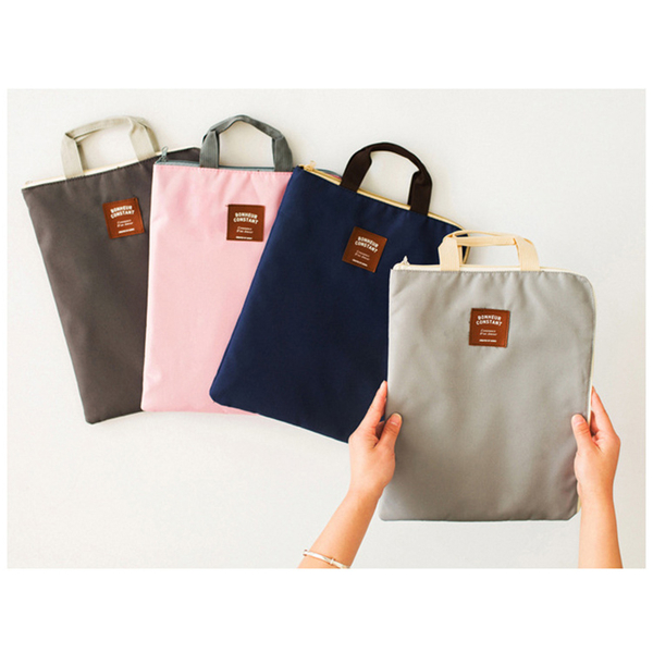 素雅 多功能 拉鏈 手提 文件袋 收納袋【YL1111】 ENTER  06/01