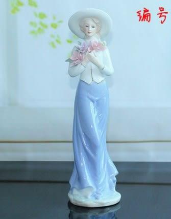 景德鎮 陶瓷器 西洋女 人物工藝品擺件