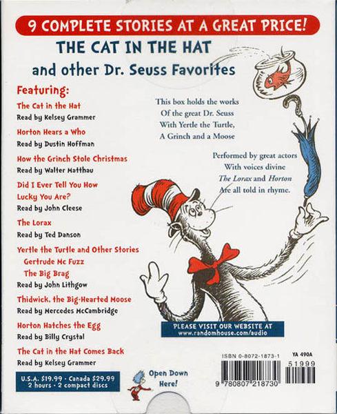 【麥克書店】THE CAT IN THE HAT AND OTHER DR.SEUSS FAVOURITE @合輯CD (不含書)