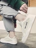 板鞋新款夏季透氣薄款男鞋子網紅帆布老爹潮鞋百搭休閒板鞋小白鞋 新品
