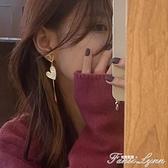 左柚2020新款潮不對稱女耳環韓國氣質網紅純銀耳釘個性設計感耳飾 范思蓮恩