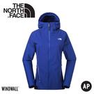 【The North Face 女 WindWall 防風防潑連帽外套《藍》】3CHV/動夾克/風衣
