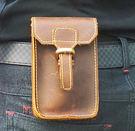 復古瘋馬皮錢包 男款真皮手機袋-棕色