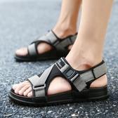 涼鞋男 越南涼鞋男鞋子夏季男士涼拖鞋青少年學生沙灘鞋潮2019新款透氣鞋