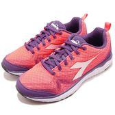 DIADORA 慢跑鞋 Flamingo W 粉紅 紫 旗艦輕跑鞋 透氣網布 吸震 EVA中底 運動鞋 女鞋【PUMP306】 DA172868C7302