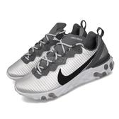 【六折特賣】Nike 慢跑鞋 React Element 55 PRM 銀 黑 男鞋 緩震回彈 運動鞋【ACS】 CI3835-001