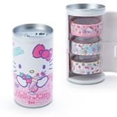 Sanrio 飲料罐造型紙膠帶組 3入 裝飾貼  HELLO KITTY 草莓 粉_706795