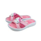 Hello Kitty 凱蒂貓 拖鞋 桃紅色 中童 童鞋 819227 no796