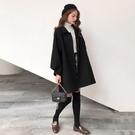 毛呢外套 赫本風毛呢外套女秋冬2021新款流行加厚學生森系小個子大衣女洋氣 極速出貨