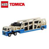 【日本正版】TOMICA NO.131 三菱 MITSUBISHI 加長型 運輸車 玩具車 長車 多美小汽車 - 334088