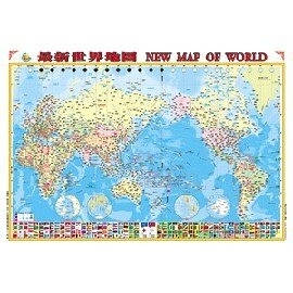 金時代 世界地圖 150磅銅版紙 四全開掛圖 /組