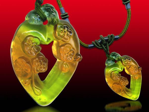 鹿港窯~居家開運水晶琉璃項鍊~心花怒放◆附精美包裝◆免運費送到家