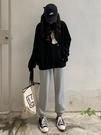 灰色運動褲女褲秋冬2019新款韓版寬鬆小腳收口衛褲加絨休閒束腳褲  MKS免運