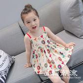 洋裝/裙子 2019春季連身裙女童卡通印花新款吊帶裙時尚沙灘裙兒童連身裙5041