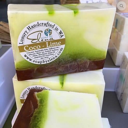 無毒天然澳洲艾琳娜 SOAP BY ELENA 養膚手工皂-椰香萊姆