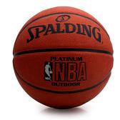 SPALDING 白色NBA-Rubber 斯伯丁籃球(戶外 運動  免運≡排汗專家≡