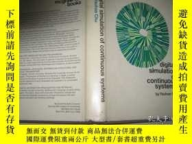 二手書博民逛書店英文原版罕見DIGITAL SIMULATION OF CONT