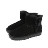 ISAO 雪靴 短靴 刷毛 保暖 短統雪靴  黑色 麂皮 女鞋 no113