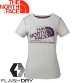 【The North Face 女排汗短T 《乳白》】3CJ1/排汗衣/短袖★滿額送