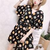 洋裝時尚雪紡連身裙女裝套裝2020夏季新款韓版寬鬆顯瘦大碼網紅短褲女 高盛