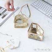 歐式ins風玻璃首飾盒創意公主珠寶飾品收納盒戒指項錬 迷你展示盒 晴天時尚館