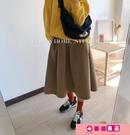 蓬蓬裙 港味復古時髦設計感小眾蓬蓬裙秋冬新款加厚毛呢口袋顯瘦半身裙女 源治良品