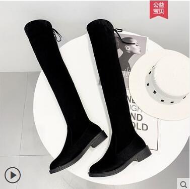 長靴女過膝平底網紅瘦瘦靴高跟粗跟高筒靴彈力女靴子 - 風尚3C