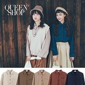 Queen Shop【01023534】單口袋素面襯衫 五色售*現+預*