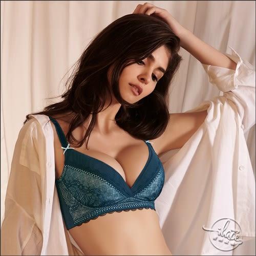 LADY 愛情天使系列 B-F罩 調整型無鋼圈胸罩(湖水藍)