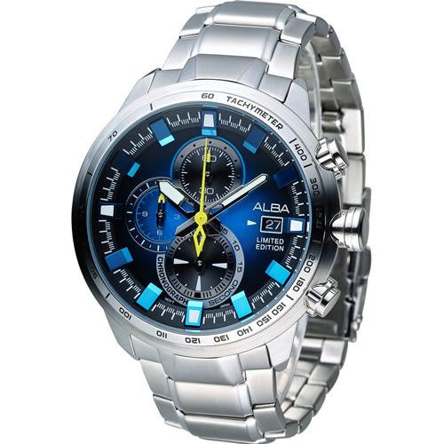 ALBA 雅柏 活力運動系列限量款三眼計時腕錶 VK67-X010B  AV6063X1