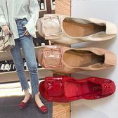 鞋子女新款百搭韓版學生平底孕婦豆豆鞋牛筋軟底春秋季單鞋女