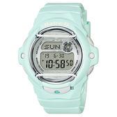 CASIO 卡西歐 Baby-G 花朵系列時尚手錶-薄荷綠 BG-169R-3DR / BG-169R-3
