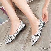 平底鞋.日系珍珠裝飾平底包鞋【K8188-8】白/粉(偏小)