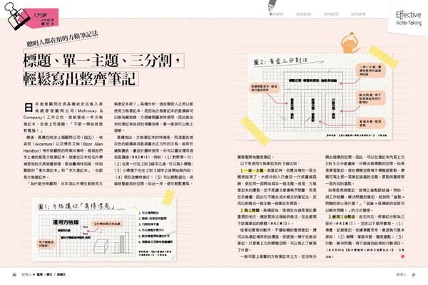 經理人特刊:筆記本活用術