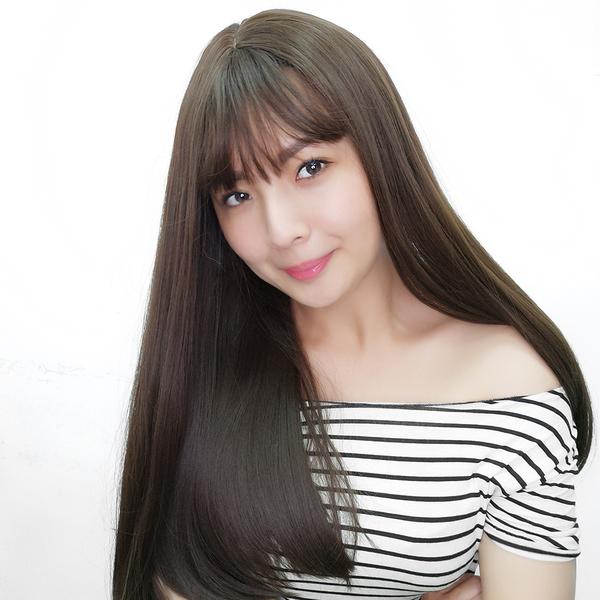 魔髮樂 全頂假髮 韓系J型直髮 仿真頭皮 高品質假髮 C8211