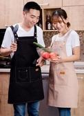 圍裙美甲奶茶店帆布圍裙可愛時尚女家用男廚房工作服 玩趣3C