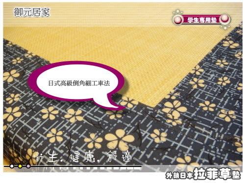 日式和風/仿拉菲草墊(5*6.2尺) (4CM) /雙人/攜帶型床墊(可拆洗)免用床包,省錢又方便。