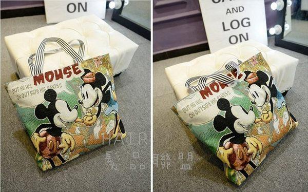 ✿迪士尼✿ 超可愛 時尚 米妮米奇 小熊維尼 史迪奇 凱蒂貓 邦妮兔 帆布包 手提購物袋 側背袋