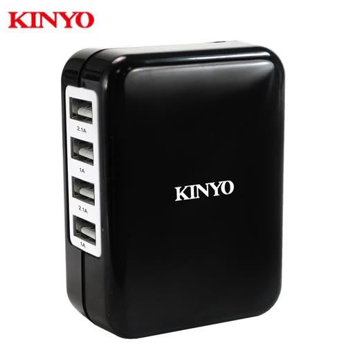 KINYO 四USB急速充電器CUH-34【愛買】