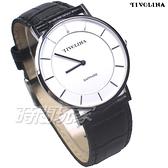 TIVOLINA 簡約 文青 防水手錶 藍寶石水晶鏡面 黑色 男錶 MAS7003WK