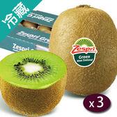 【紐西蘭】活力鮮綠Zespri奇異果22粒/箱X3【愛買冷藏】