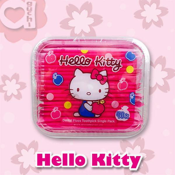 ☆Hello Kitty☆ 凱蒂貓單支攜帶型牙線棒 50支(盒裝)