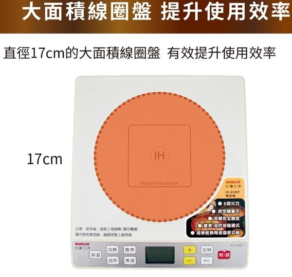 【SANLUX台灣三洋】IH微電腦電磁爐 IC-63DT