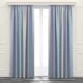 星星鏤空雙層紗簾 寬200x高165cm 藍色