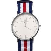 范倫鐵諾˙古柏 簡約刻度帆布手錶【NEV4】