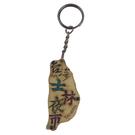 【收藏天地】台灣紀念品*寶島造型木質鑰匙圈-士林夜市