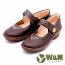 W&M 圓頭厚底坡跟復古娃娃鞋 女鞋-咖(另有黑)
