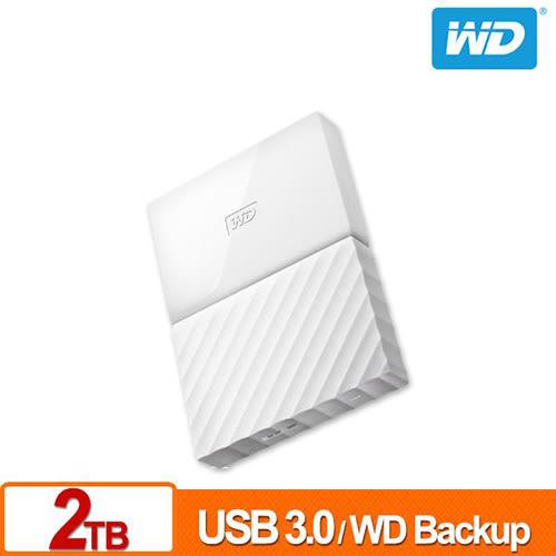 WD My Passport 2TB 2.5吋 行動硬碟 (白色/薄型) WDBS4B0020BWT-WESN